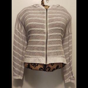 Hem & Thread Long Sleeve Zip-up Cardigan